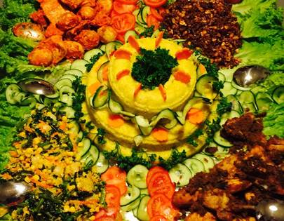 Indonesiches Buffet<br> Nasi Kuning